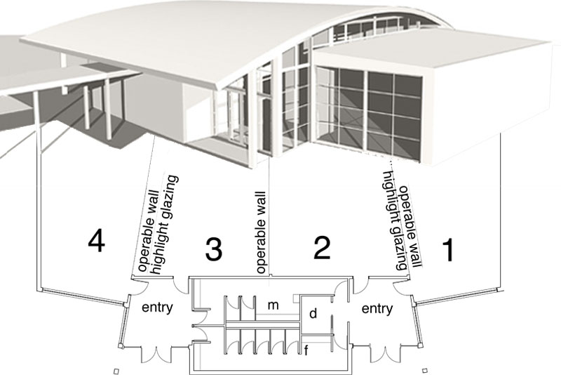 school multi-purpose hall sketch design