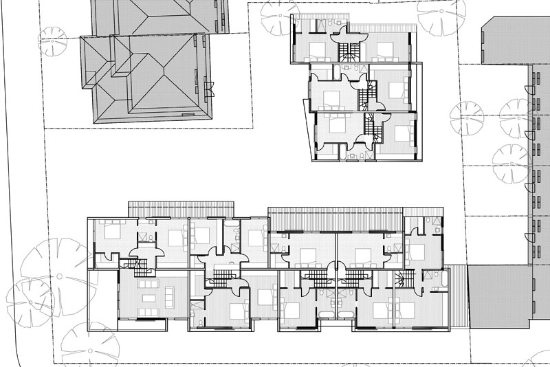 family sized townhouse first plans